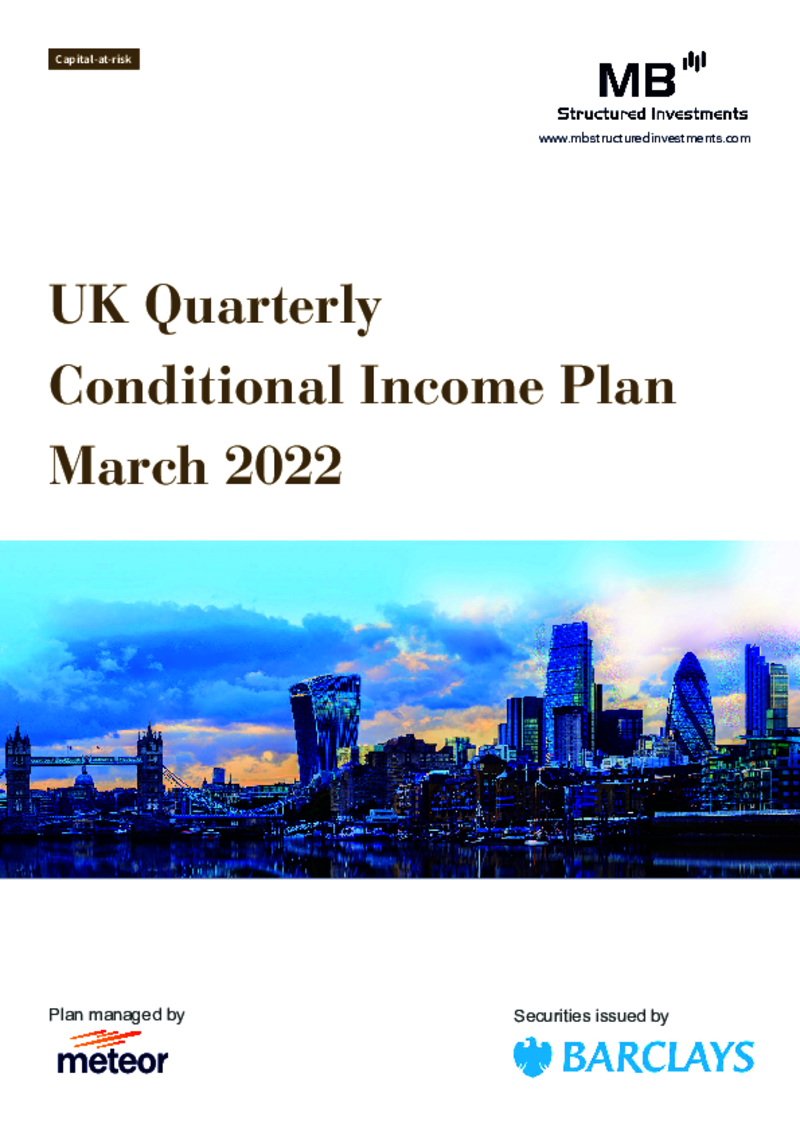 MB Structured Investments UK Quarterly Contingent Income Plan September 2020