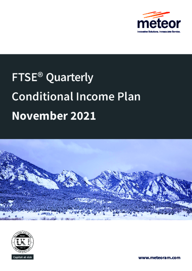 Meteor FTSE Quarterly Contingent Income Plan October 2020 (option 1)