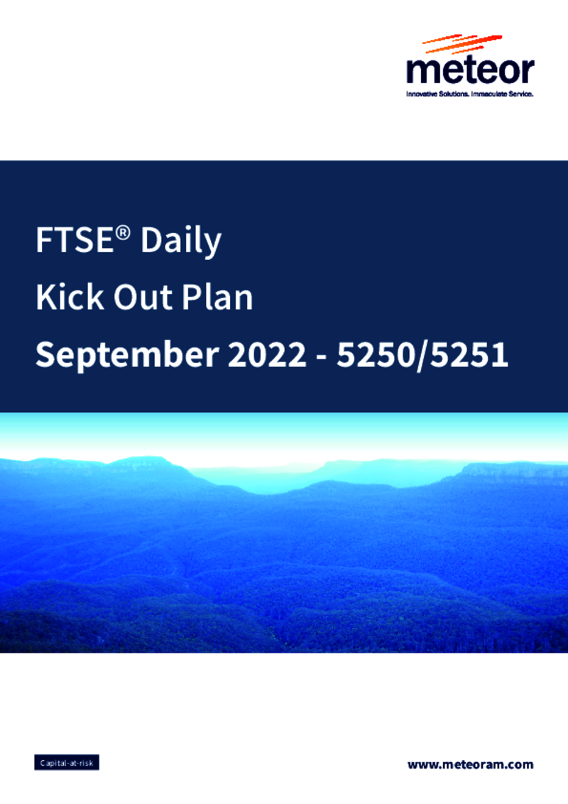 Meteor FTSE Daily Kick-Out Plan October 2020