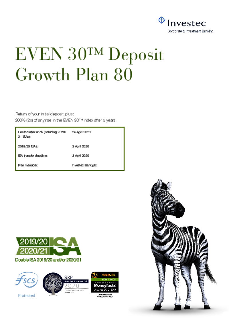 EVEN 30 Deposit Growth Plan 80
