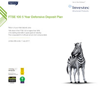 FTSE 100 5 Year Defensive Deposit Plan 2 brochure