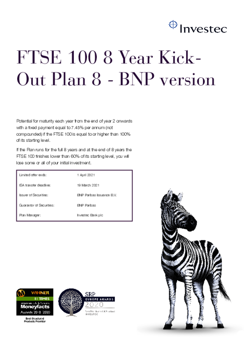 FTSE 100 8 Year Kick-Out Plan 2
