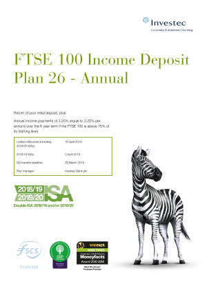 FTSE 100 Income Deposit Plan 23 Annual