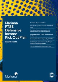 FTSE Defensive Income Kick Out Plan July 2018 brochure