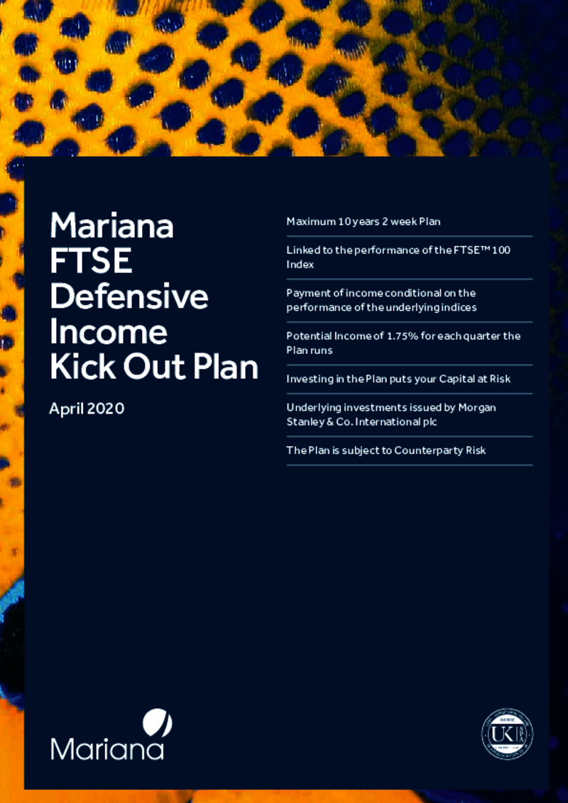 FTSE Defensive Income Kick Out Plan February 2019
