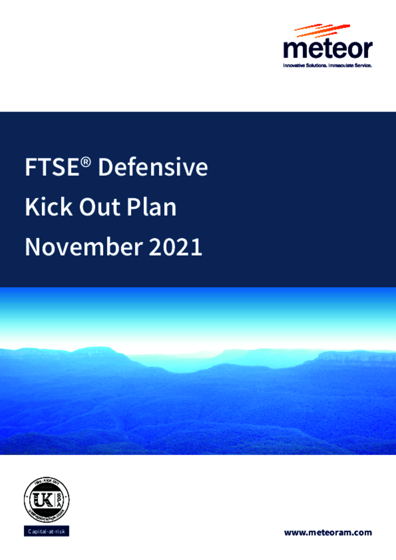 FTSE Defensive Kick Out Plan October 2019