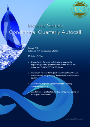 Income Series: Conditional Quarterly Autocall Issue 13