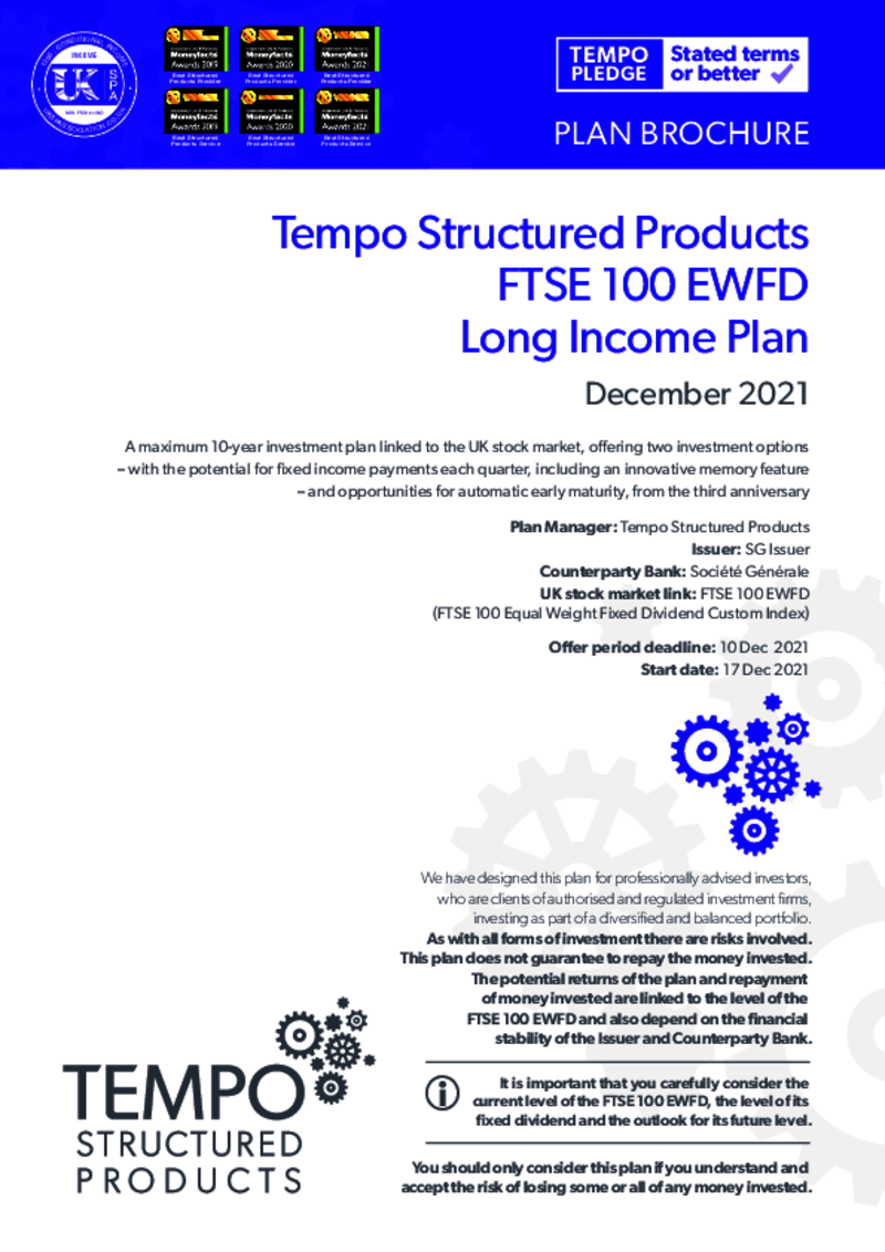 Tempo Structured Products Long Income Plan February 2019