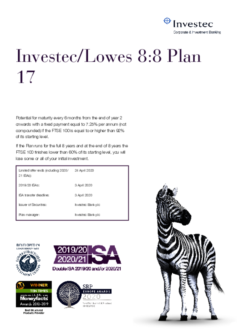 Investec / Lowes 8:8 Plan 6