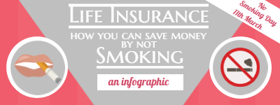 stop Smoking save money life insurance infographic featured