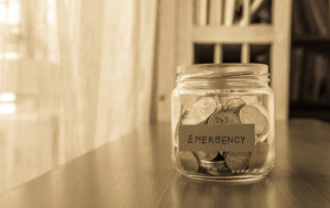 home emergency savings fund jar